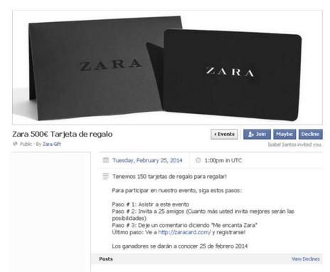 Bonos Regalo para utilizar en Zara