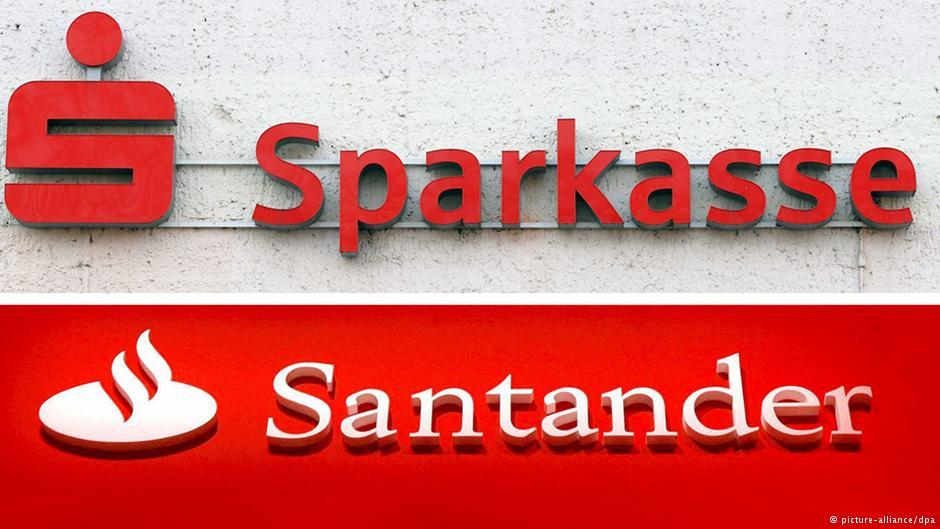 Lucha del color rojo por el Banco Santander